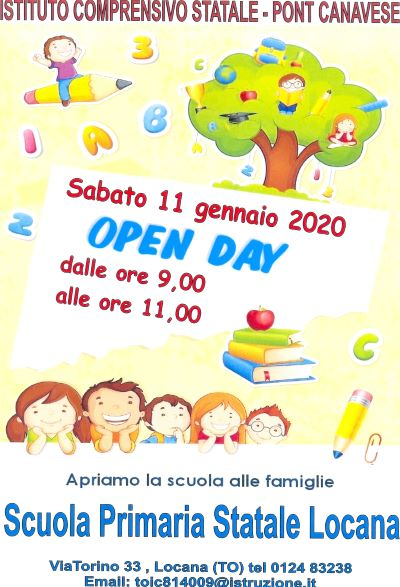 open day - primaria locana 2020-21